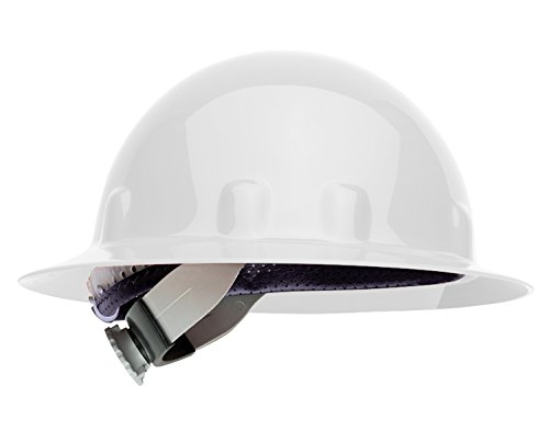 (Fibre-Metal by Honeywell E1SW01A000 Super Eight Full Brim Swing Strap Hard Hat, White)