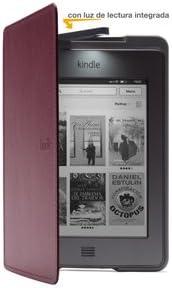 Funda de cuero con luz Amazon para Kindle Touch, color púrpura ...