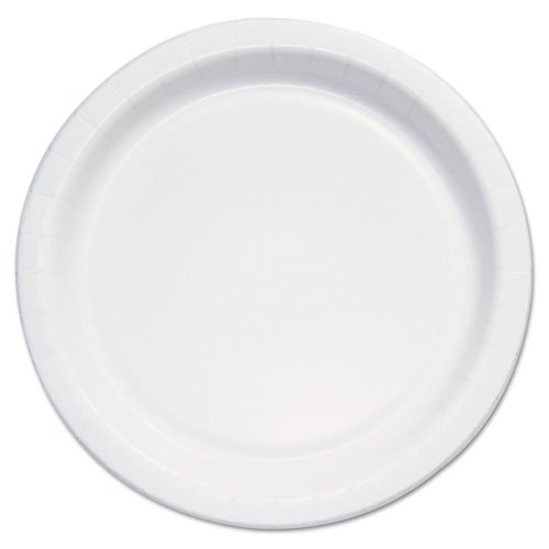 "SOLO Cup Company Bare Eco-Forward Clay-Coated Paper Plate, 6"" Diameter, White/Brown/Green - Includes eight packs of 125 plates. 1000 per case."