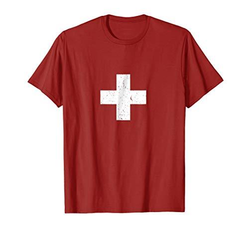 Switzerland Swiss Flag Vintage -