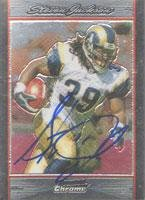 Steven Jackson St. Louis Rams 2007 Bowman Chrome Autographed Card - Sweet Autograph. This item comes with a certificate of authenticity from Autograph-Sports. Autographed