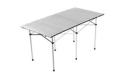 Tavolo Campeggio Alluminio Avvolgibile.Cilvani Tavolo Tavolino Arrotolabile 140x70cm In Alluminio Permercati Fiere Campeggio Feste Pic Nic