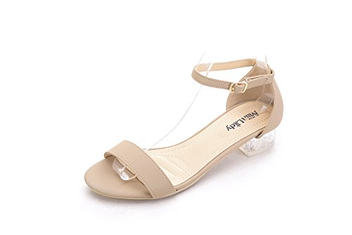 Mila Lady Backy -1 Lucite Clear Low Heels Nude 8.5