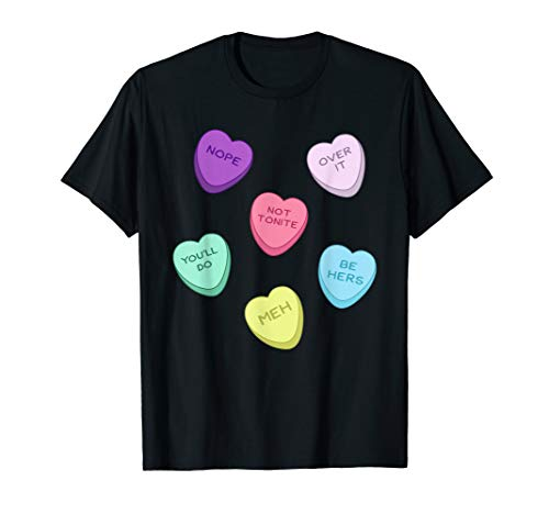 Cute Funny Wife Husband Valentines Day Candy Heart T Shirt