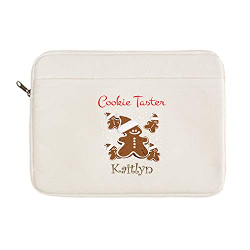 Personalized Custom Text Funny Cookie Taster Cotton Canvas Laptop Case 13