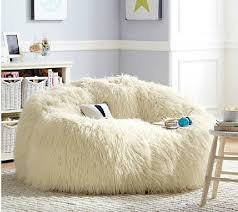 High Back Support Bean Bag Living Room Sofa Chair   Lazy Sofa Beds In White
