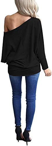 LACOZY Women's Off Shoulder Long Sleeve Oversized Pullover Sweater Knit Jumper Loose Tunic Tops 4