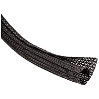 Sleeving Split Braided Self Wrap 1 inch Black 50 Ft Pull Box-2pack