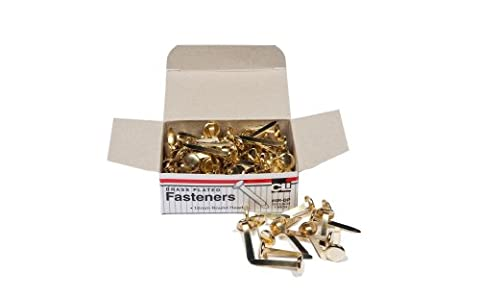 Charles Leonard Inc., Fasteners, Round Head, Brass Plated 1 Inches Shank, 10 mm Head, 100/Box