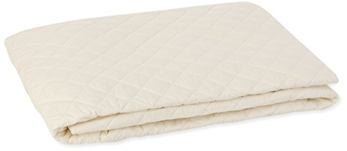 Coyuchi 1018616 Organic Mattress Pad, Queen, White