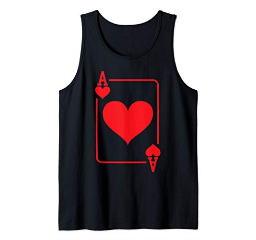 Ace of Hearts Playing Card Halloween Costume Tank -