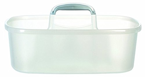 Cleaning Caddy with Handle for Toting Cleaning Supplies, Set of 4, Clear Casabella