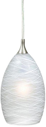 Vaxcel PD57111SN Milano Mini Pendant, Satin Nickel -