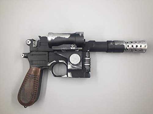(Han Solo Blaster Prop Replica 1:1 DL-44 Star Wars Weathered cosplay)
