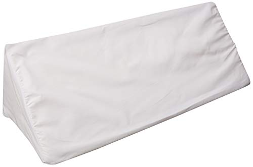 Multi-use Body Aligner Wedge Cushion - Helps Maintain Laying Position, Especially For Side Sleepers - White - By Hermell Products (Best Sleeping Position For A Sore Back)