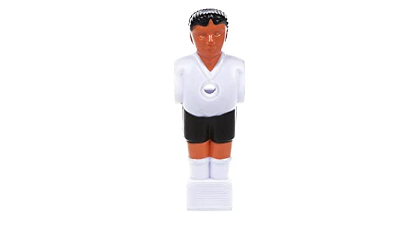 ACAMPTAR Jugador de Futbol Hombre de futbolin - Blanco: Amazon.es: Juguetes y juegos