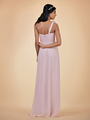 Evening Asymmetric Bridesmaid Dress Alicepub One Chiffon Lilac Bridal Shoulder Dress Maxi SIxfZqH