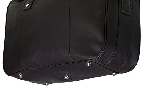 Pierre by ELBA 100402090 Reisetasche Weekender Urban Line aus echtem Leder in braun Wochenende Tasche Unisex für Damen Herren Stylisch Resisegepäck Urlaub Sport Tasche Handgepäck