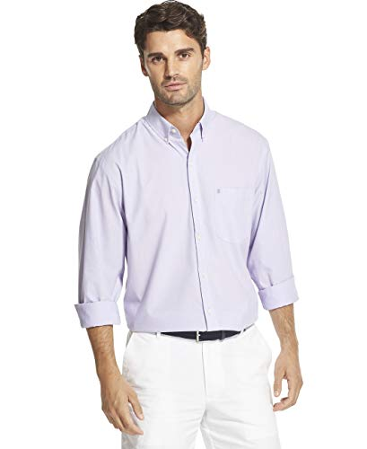 IZOD Men's Big and Tall Button Down Long Sleeve Performance Solid Shirt (Discontinued)