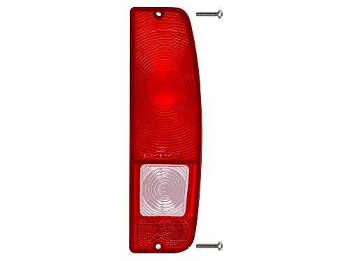 Taillight Lens RH Rear Red w/Clear Backup Fits 1967-72 F-100 F-250 Styleside Pickup Truck 1966-77 Bronco (C7TZ-13450E)