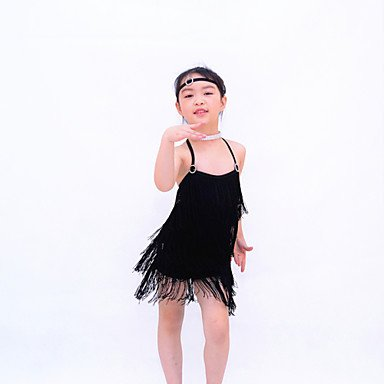 Cheerleader de Latina Desempeño de Licra la Ropa Jazz Moderna BLACK en XSC Foto Danza como Noche Vestidos Danza la Accesorios Vestidos q84Bvv