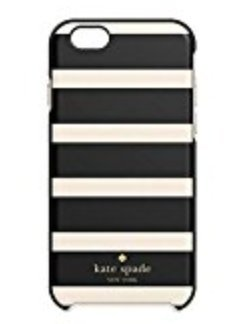 Kate Spade New York 'Black/White Stripe' Hybrid Hardshell Case for iPhone 6/6s (Kate Spade Black And White)