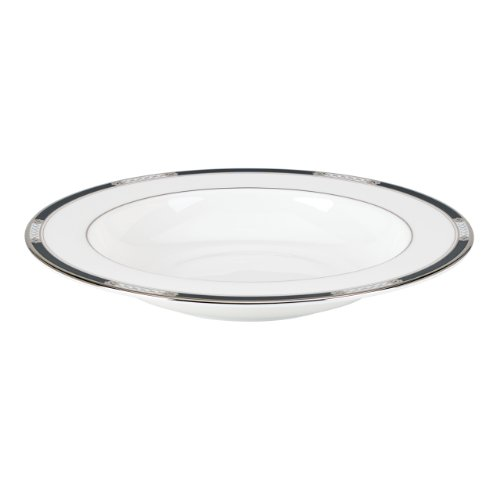Lenox Hancock Platinum Pasta/Rim Soup Bowl, (Fine Bone China Soup)