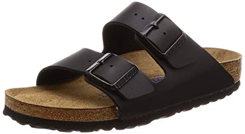 (Birkenstock Women's BIRK-551253 Arizona Sandals, Black, 38)