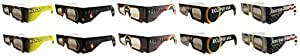 Eclipse Glasses - CE Certified Safe Solar Eclipse Glasses - 10pk Assorted- Eye Protection