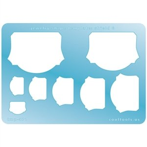 Cool Tools - Jewelry Shape Template - Shield 6