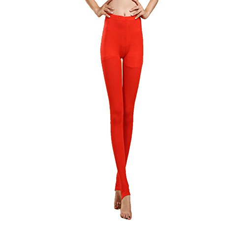 Mujeres Ladies Dance Pantalones Dancewear Foot Pantalones Leggings Elastic Trousers Red