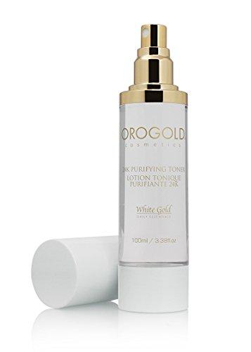 Orogold White Gold 24K Purifying Facial Toner from Cosmetics, 100 mL./3.38 fl. - 24k Toner