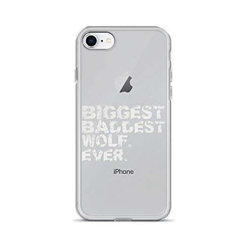 iPhone 7/8 Pure Clear Case Cases Cover Biggest Baddest Wolf Ever. Big Bad Werewolf Winter - Disguise Wolf Costume