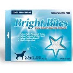 Bright Bites (Bright Bites Daily Dental Cool Peppermint Flavor Medium Dog Treats by Diamond Pet Foods)