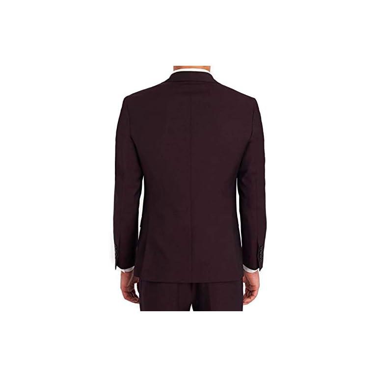 31sTXKIVFUL. SS768  - Creative concepts Men's Cotton Slim Fit Blazer (Wine, Large/40)