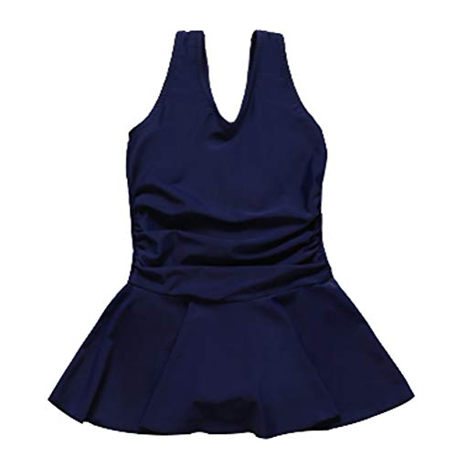 SIJIYIREN 스쿨 수영복 스윔 웨어 이너 팬츠 된 일체형 키즈 여 아 원피스 수영복 여 아 수영복 풀 어린이용 해군 여우-80-165cm / SIJIYIREN School Swimwear With Swimwear Inner Pants Integrated Kids Girls` One Piece Swimsuit Girls` Swimwea...