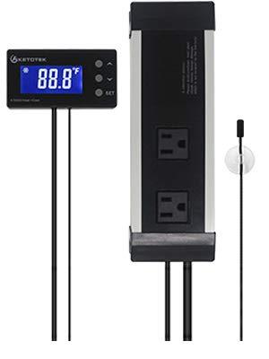 KETOTEK KT4000 Digital Temperature Controller Outlet Thermostat 2 Stage Heating And Cooling Mode US Plug