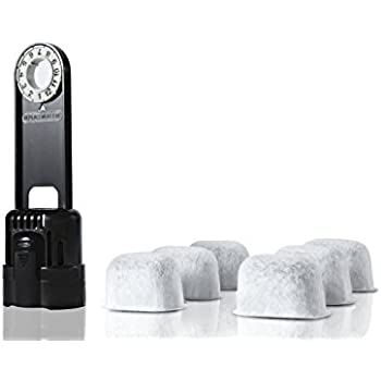 6-pack Replacement Charcoal Water filter Cartridges with Starter Kit Combo for Keurig single brewing system and some models of Breville by Geesta