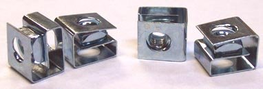 10-32 Rack Mounting Clip Nuts / Steel / Zinc / 25 Pc. Carton