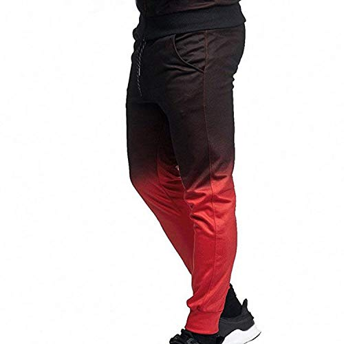 Welcome the good future Men Tracksuit Sport Set Striped Shirt Long Sleeve Fitness Pants Running Suit Plus Size Jacket Trousers,Red Pants,Reverse