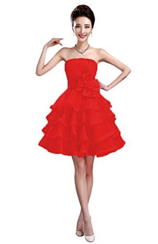 Vimans Vestido Mujer Trapecio Rosso Para qTXwTvr