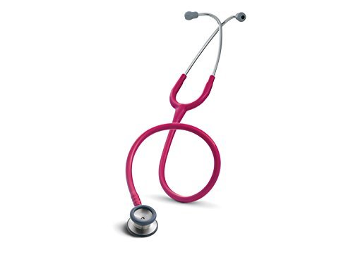 3M Littmann 2122 Classic II Pediatric Stethoscope, Raspberry, 28 inch (Renewed)