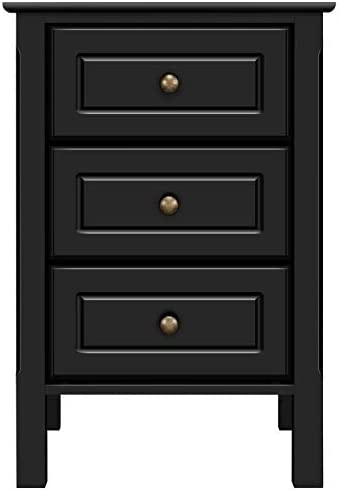 YAHEETECH Wood 3-Drawer Nightstand