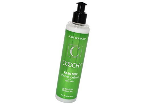 Coochy Rash Free Naked Silk Green Tea Water Based Shave Creme (Safe for All Body Parts Including Face and Intimate Areas) - Size 8 (Coochy Green Tea)