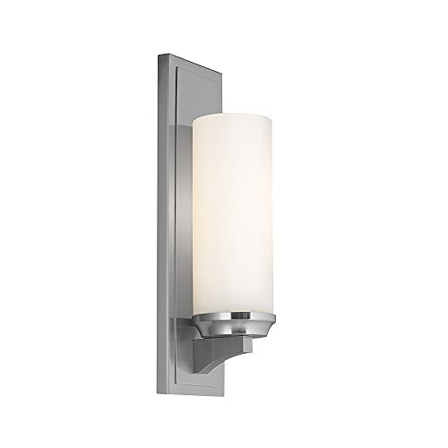 Feiss WB1723BS-F 1-Bulb Wall Bracket Light Fixture, Brushed Steel - Island Brushed Light Aluminum
