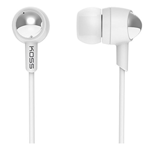 KOSS 183814 / Earset Stereo - White - Mini-phone - Wired - Earbud - Binaural - In-ear - 4 ft Cable