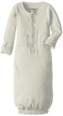 Lovedbaby Baby-Boys Organic Gown, Stone, 0-3m