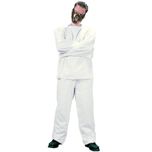 Fun World Men's Maximum Restraint, White, STD. up to 6' / 200 Lbs