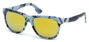 Diesel Unisex DL0076 Injected Blue Sunglasses 56