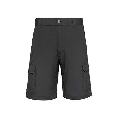 LA Police Gear Men Elastic Waistband 8 Pocket Operator Tactical Shorts, Black-36 from LA Police Gear